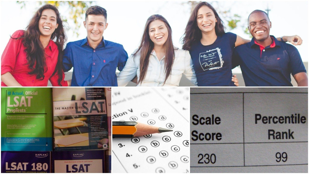 Students, books, test and scores