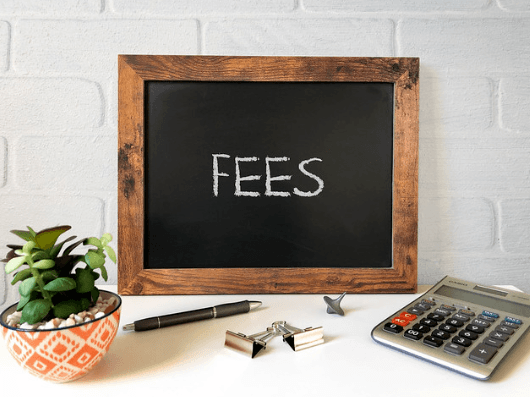 The fees board