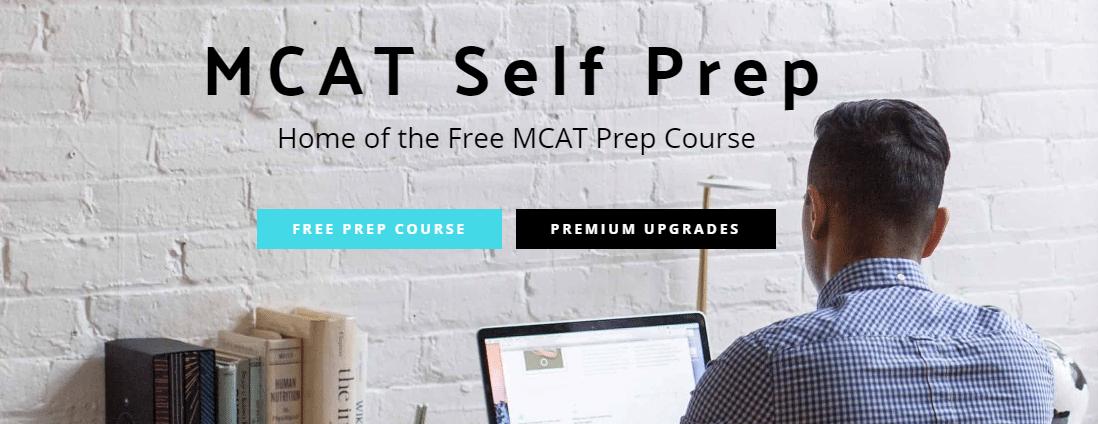 MCAT Self Prep home page capture