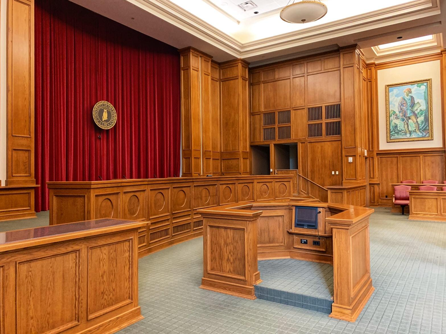 Empty court room