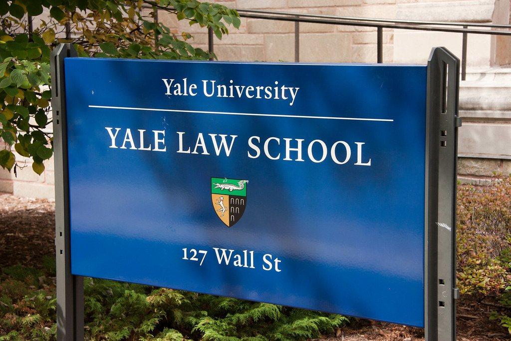Yale Law School sign
