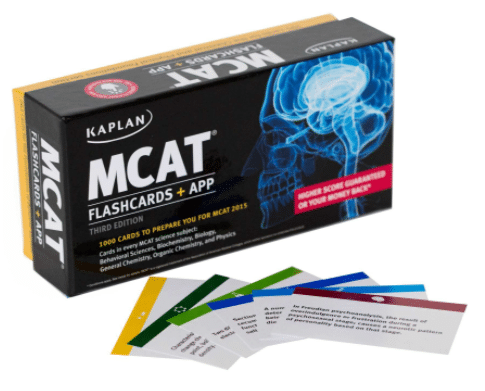 MCAT flash cards by KAPLAN